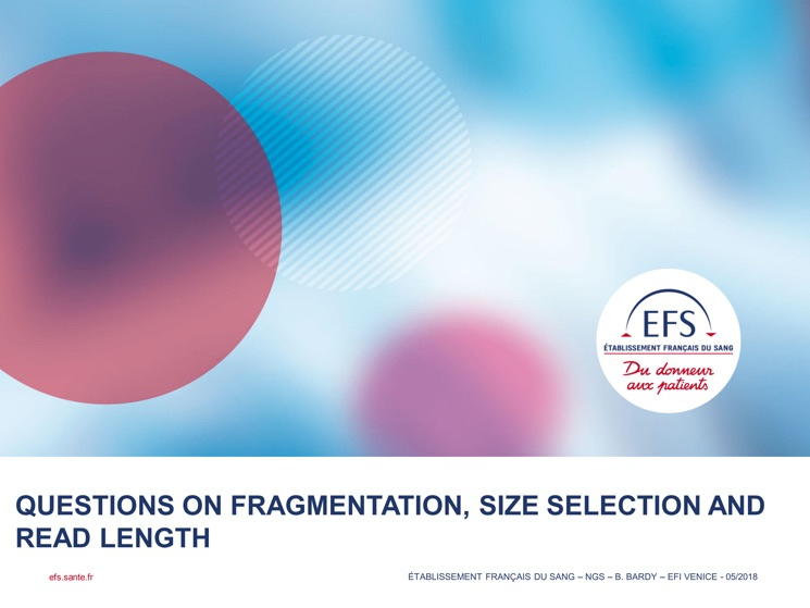 Questions of Fragmentation, Size Selection and Read Length
