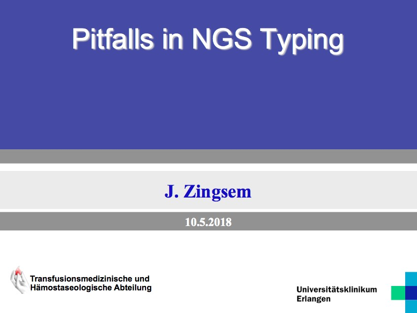The Pitfalls in NGS Typing - Presentation by Jürgen Zingsem