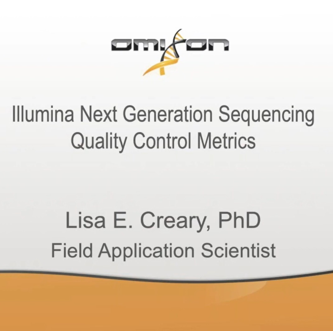 llumina Next Generation Sequencing Quality Control metrics